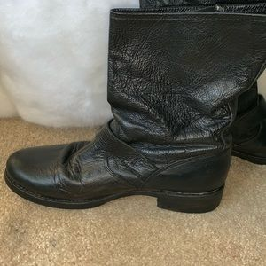 Frye Shoes - Frye Black Leather Boots Size 10